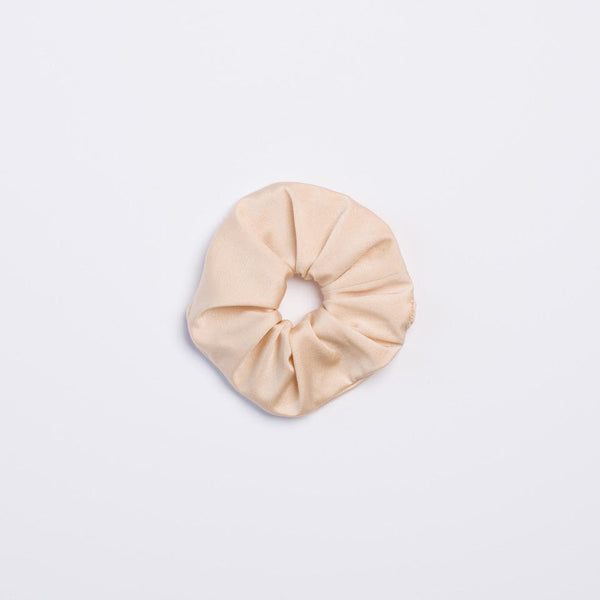 Cream Shimmer Scrunchie