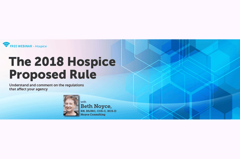 Coming up: a free webinar on the 2018 hospice proposed rule