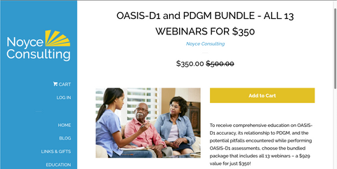 Just $350 for Entire OASIS-D1 and PDGM Web Series – Closeout Price