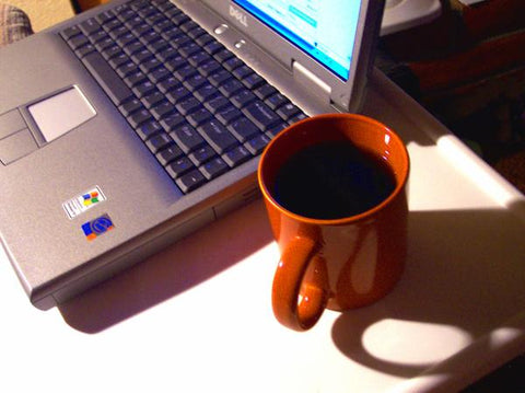 Laptop and mug