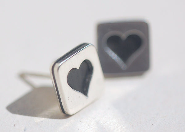Handmade Win these Heart earrings, only at Ed Vincent Jewellery