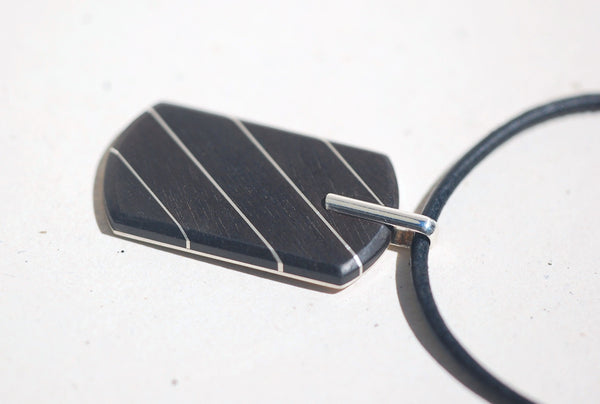 Handmade Pinstripe Dog tag, only at Ed Vincent Jewellery