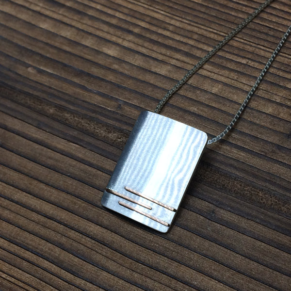 3 strips brushed pendant