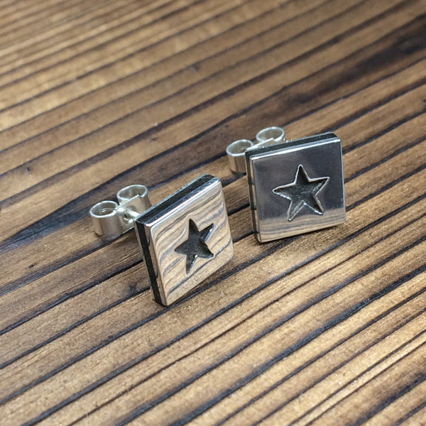 Star earrings - polished finish