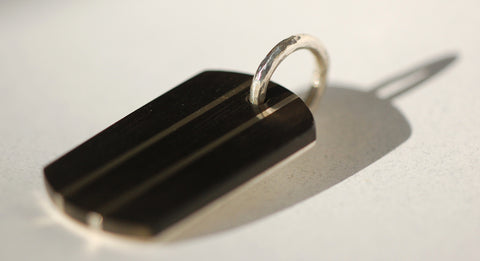 Handmade Stripes Dog tag, only at Ed Vincent Jewellery - 1