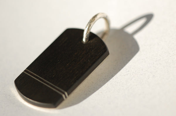 Handmade Tramlines Dog tag, only at Ed Vincent Jewellery - 2