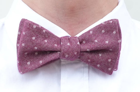 Vintage Red Polka Dot Cotton Bow Tie