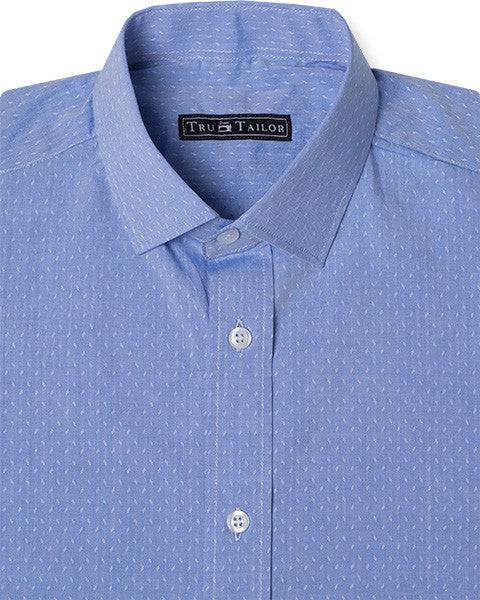 Blue Hash Design Dress Shirt