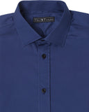 Royal Blue Solid Dress Shirt