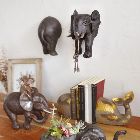 Image of Laid Back Animal Elephant Hook - Cece & Me - Home and Gifts
