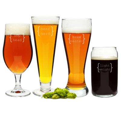 Image of Specialty Beer Glasses (Set of 4) - Cece & Me - Home and Gifts