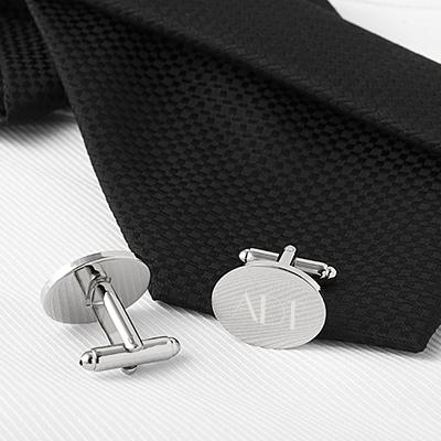 Image of Silver Oval Cuff Links - Cece & Me - Home and Gifts