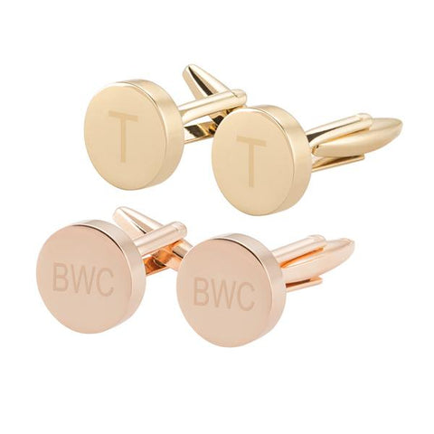 Personalized Round Cuff Links - Cece & Me - Home and Gifts