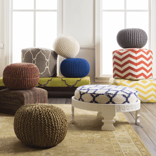 Fallon Pouf ~ Camel - Cece & Me - Home and Gifts