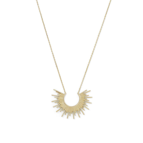 14 Karat Gold Plated Sunburst Necklace - Cece & Me - Home and Gifts