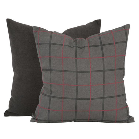 Pillow Oxford Charcoal - Cece & Me - Home and Gifts