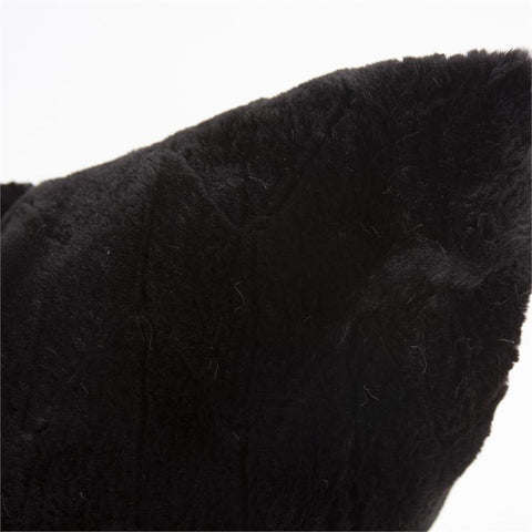 Faux Fur Angora Ebony Pillow - Cece & Me - Home and Gifts