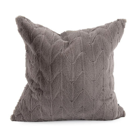 Faux Fur Angora Stone Pillow - Cece & Me - Home and Gifts