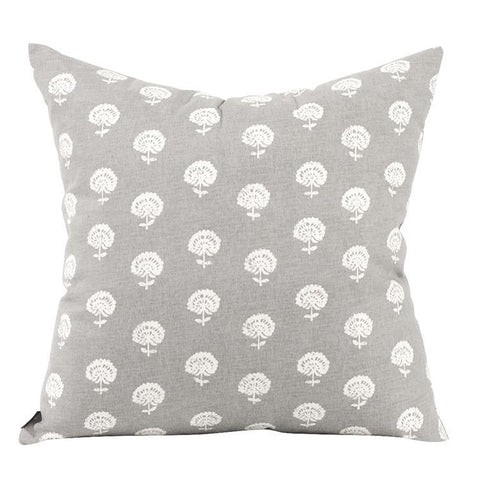 Dandelion Citron Pillow ~ Pewter - Cece & Me - Home and Gifts