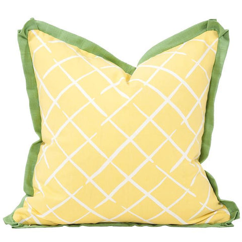 Image of Cove End Daffodil Pillow ~ Green & Yellow - Cece & Me - Home and Gifts