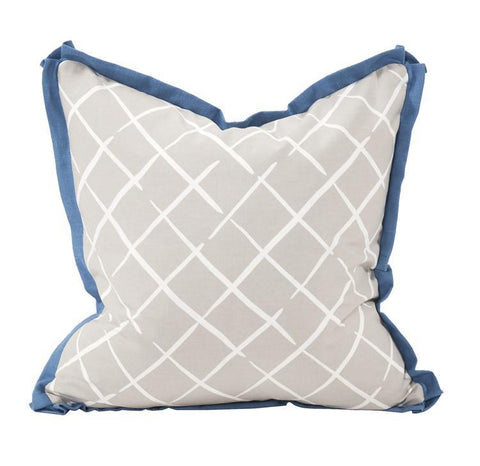 Cove End Daffodil Pillow ~ Blue & Gray - Cece & Me - Home and Gifts