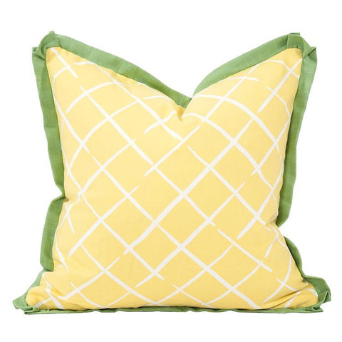 Image of Bermuda Bay Daffodil Pillow ~ Green & Yellow - Cece & Me - Home and Gifts