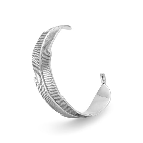Oxidized Feather Cuff Bracelet Ring - Cece & Me - Home and Gifts