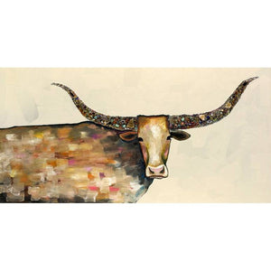Longhorn Geoge Neutral ~ Framed Giclee Canvas - Cece & Me - Home and Gifts