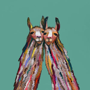 Llama duo ~ Giclee Canvas - Cece & Me - Home and Gifts