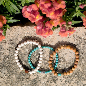 Wood Bead Fashion Stretch Bracelet - Cece & Me - Home and Gifts