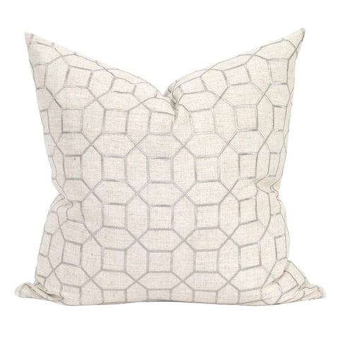Image of Trellis Pillow ~ Natural
