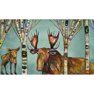 Moose Birch Tree Forest ~ Framed Giclee Canvas - Cece & Me - Home and Gifts