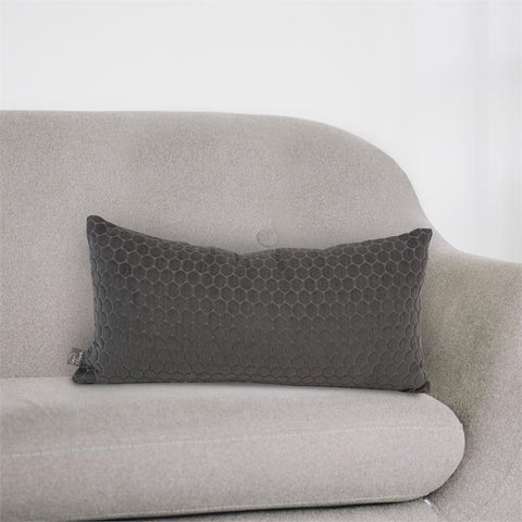 Deco Pillow II ~ Pewter