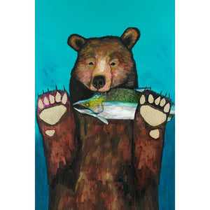 Salmon for Dinner ~ Framed Giclee Canvas - Cece & Me - Home and Gifts