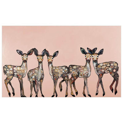 5 Dancing Fawns On Coral Wall Art - Cece & Me - Home and Gifts