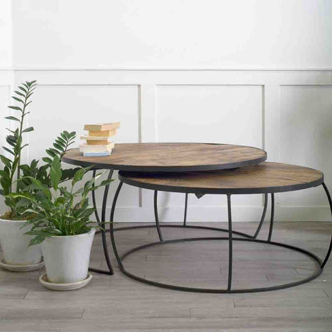 Clapp Coffee Tables (2 Piece Set) - Cece & Me - Home and Gifts