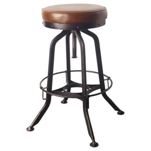 Oxford Circular Stool ~ Brown - Cece & Me - Home and Gifts