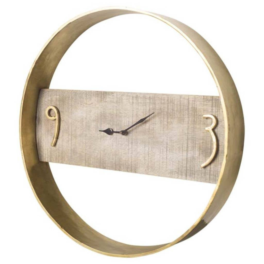 Starling Wood And Metal Clock - Cece & Me - Home and Gifts