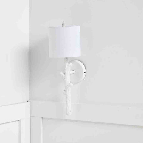 Sabinal Tree Branch Wall Sconce ~ White - Cece & Me - Home and Gifts