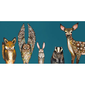 Forest Animals Giclee Canvas ~ Teal - Cece & Me - Home and Gifts