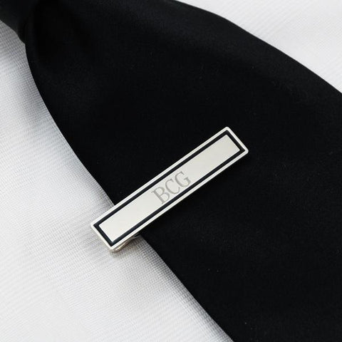 Black Border Designer Tie Clip - Cece & Me - Home and Gifts