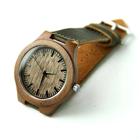 Image of Wood Engraved Watch ~ Woodland - Cece & Me - Home and Gifts