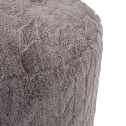 Foot Pouf Angora Stone - Cece & Me - Home and Gifts