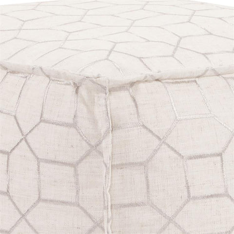 Image of Square Pouf Trellis ~ Natural