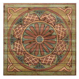 Ornamental Tile I ~ Solid Fir Wood Planks - Cece & Me - Home and Gifts