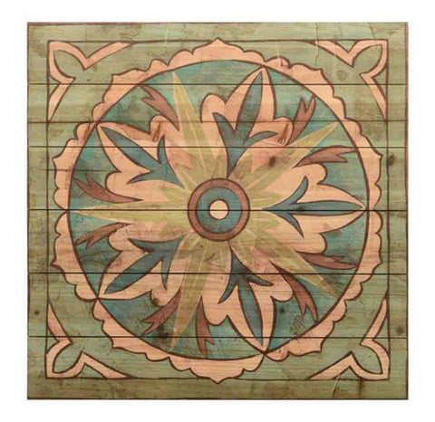 Image of Ornamental Tile IIII ~ Solid Fir Wood Planks - Cece & Me - Home and Gifts