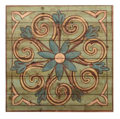 Image of Ornamental Tile III ~ Solid Fir Wood Planks - Cece & Me - Home and Gifts