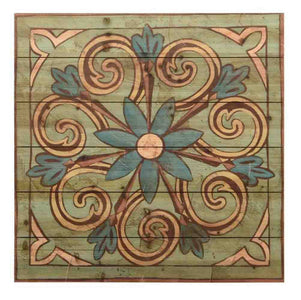 Ornamental Tile III ~ Solid Fir Wood Planks - Cece & Me - Home and Gifts