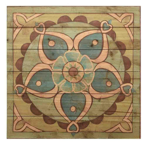 Image of Ornamental Tile II ~ Solid Fir Wood Planks - Cece & Me - Home and Gifts