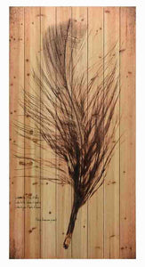 Feather on the Wind II ~ Solid Fir Wood Planks - Cece & Me - Home and Gifts
